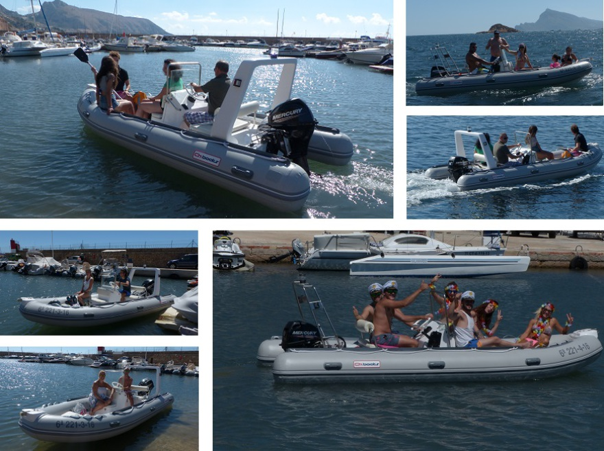 barcos en alquiler en Altea, Calpe, Moraira, Denia, Javea, Campomanes, Villajoyosa, Albir, Benidorm, sin titulacion ni licencia.
