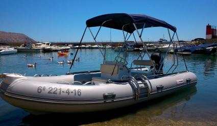 Alquiler embarcaciones zodiac a motor y sin patron, no necesita licencia ni carnet, modelo SAILOR